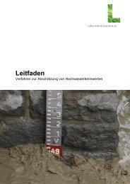 Leitfaden HQ Statistik - Wasser, Klimawandel & Hochwasser