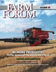 BE MORE PRODUCTIVE BE MORE PRODUCTIVE - Case IH