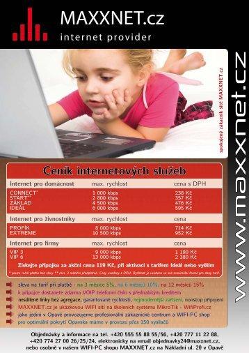 ve formátu PDF - MAXXNET.cz