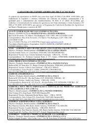 CADASTRO DE EXPORTADORES DE FRUTAS 19 11 2009