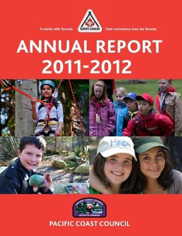 Pacific Coast Council Annual Report 2011 - 2012 - Scouts Canada