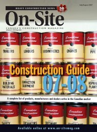 July/August - On-Site Magazine