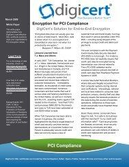 Encryption for PCI Compliance - Digicert