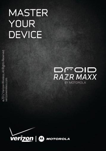 Verizon DROID RAZR MAXX Getting Started Guide