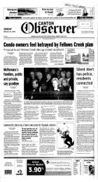 Condo owners feel betrayed by Fellows Creek plan; - Canton Public ...