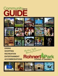 Community Guide - Rohnert Park Chamber of Commerce