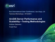 ArcGIS Server Performance and Scalability - Testing ... - Esri