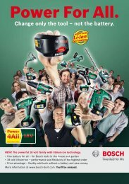 Power For All. - Bosch power tools