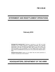 FM 3-39.40 INTERNMENT AND RESETTLEMENT OPERATIONS ...