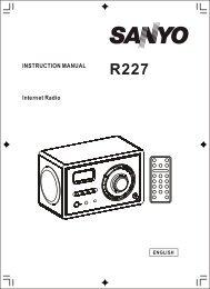 INSTRUCTION MANUAL Internet Radio - C. Crane Company