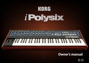 iPolysix Owner's manual - KORG USER NET