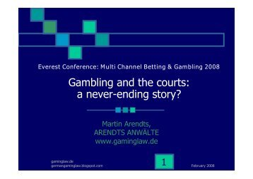 Gambling and the courts: a never-ending story? - Casinos.ch