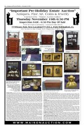 November 13 - Antiques and the Arts Online
