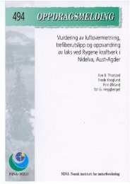 Vurdering av luftovermetning, trefiberutslipp ogoppvandring ... - NINA