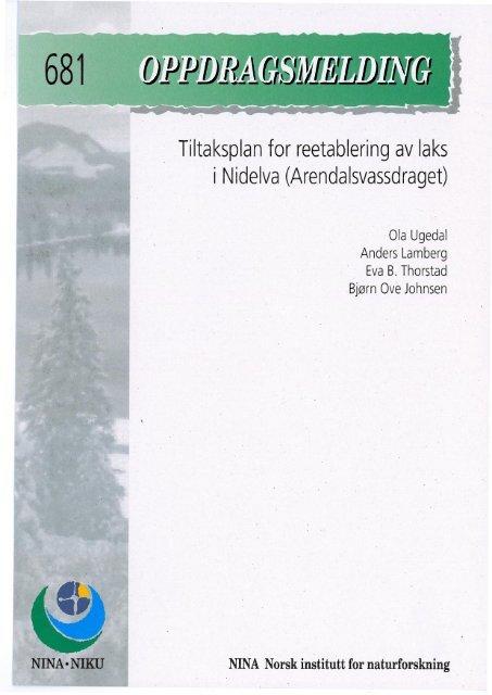 Tiltaksplan for reetablering av laks i Nidelva ... - Nina