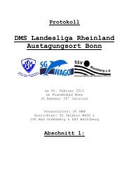 Protokoll DMS - TV Ratingen