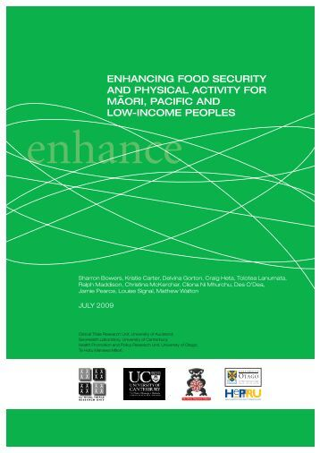 Enhancing food security - Index of - University of Otago, Wellington