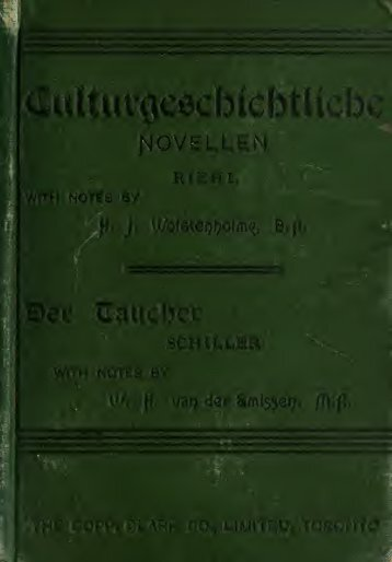 Culturgeschichtliche Novellen / with grammatical ... - Index of