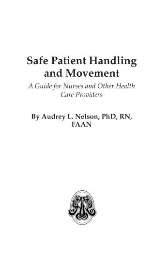 Safe Patient Handling and Movement - Springer Publishing Company