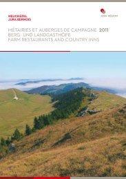 MéTAIRIES ET AUBERGES DE CAMPAGNE ... - Jura & Trois-Lacs