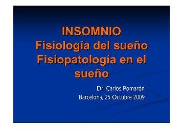 INSOMNIO Fisiología del sueño Fisiopatología en el sueño - Metges ...
