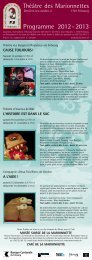 Programme 2012 - 2013 - Musée suisse de la marionnette