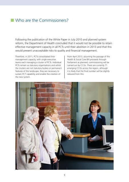 Brochure which accompanies NHS Midlands and East's AQP