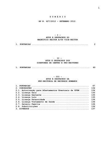 Boletim de Pessoal - Setembro 2012 - UFSM