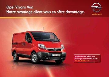 Opel Vivaro Van Notre avantage client vous en offre ... - Grimm Centre