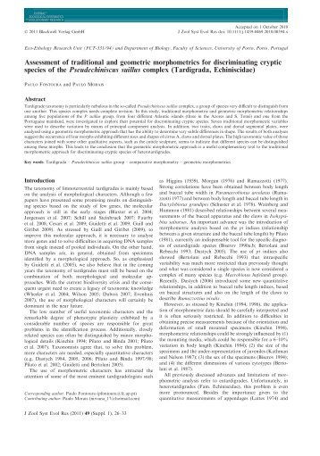 Assessment of traditional and geometric morphometrics for ... - UIEE