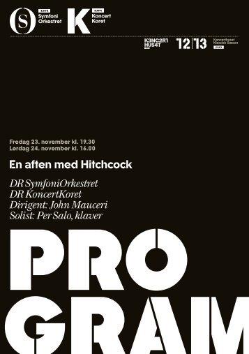 En aften med Hitchcock DR SymfoniOrkestret DR KoncertKoret ...