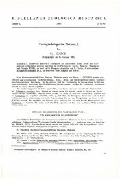 Miscellanea Zoologica Hungarica 1. 1982 (Budapest, 1982)