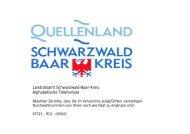 Landratsamt Schwarzwald-Baar-Kreis Alphabetische Telefonliste