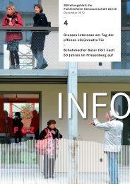 FGZ-Info 4/2012 - Familienheim-Genossenschaft Zürich