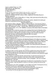 Minutes of Board of Directors Meeting March 1 - Mediolanum SpA
