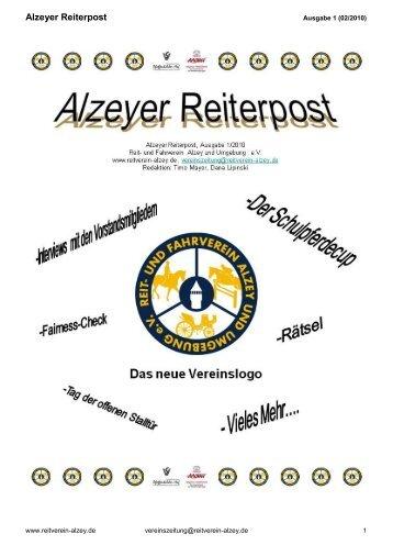Ausgabe - Reit- und Fahrverein Alzey und Umgebung eV