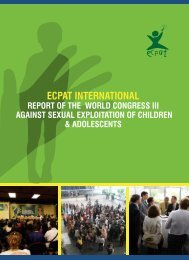 Report of the World Congress III against Sexual - ECPAT International