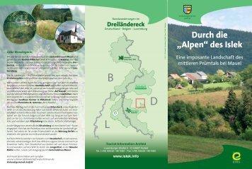 """Durch die """"Alpen"""" des Islek - Tourist-Information Arzfeld"""