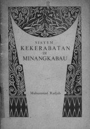 Page 1 SISTEM KEKERABATAN f/î'~' MINANČIKABAU . E ~ Page 2 ...