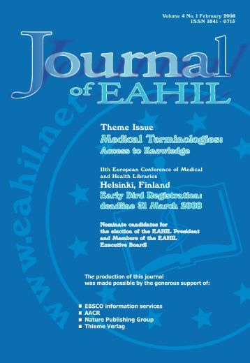 Issue 1 - European Association for Health Information and Libraries