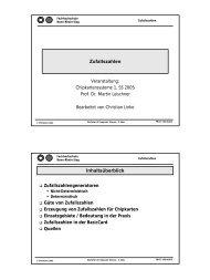Zufallszahlen Inhaltsüberblick - Prof. Dr. Martin Leischner