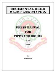 RDMA Dress Manual - Regimental Drum Major Association