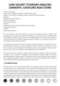 Low-Valent Titanium Induced Carbonyl Coupling Reactions - Page 5
