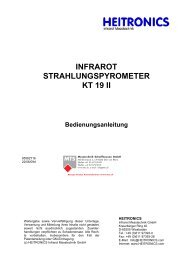 Manual KT19II Serie [PDF, 2.00 MB] - MTS Messtechnik ...