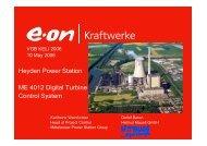 EON Turbine Control System - Helmut Mauell GmbH