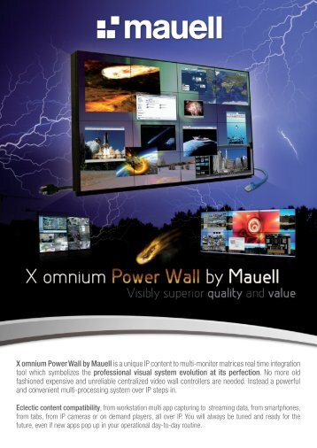 X omnium Power Wall by Mauell is a unique IP content to multi ...