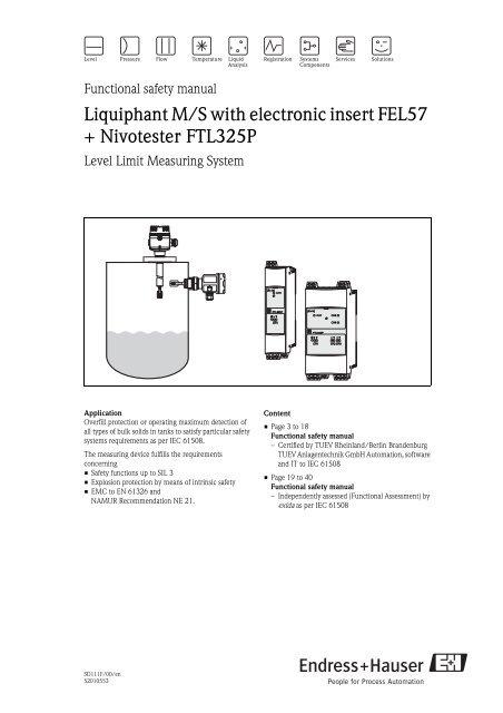 USED TESTED CLEANED FEL57 ENDRESS /& HAUSER FEL57