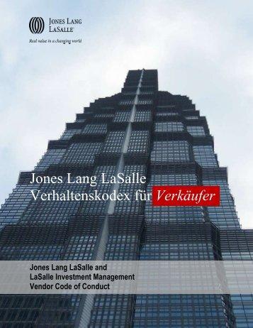 Jones Lang LaSalle Verhaltenskodex für Verkäufer