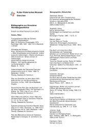 Kultur-Historisches Museum Grenchen Bibliographie zur Grenchner ...