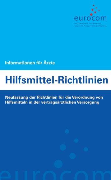 Hilfsmittel-Richtlinien Verordnung - eurocom
